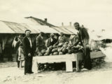 Ukraine, people looking at watermelons