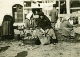 Ukraine, two women selling onions