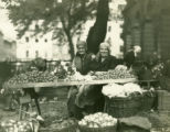 Ukraine, two women selling tomatoes