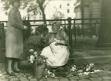 Ukraine, women selling flowers