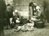 Ukraine, women selling mushrooms