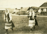 Ukraine, two women in Ruthenian dress