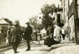 Ukraine, people congregated on the street