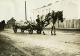 Poland, market wagon drawn by one horse