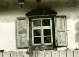 Ukraine, close up of window and shutter design