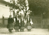 Ukraine, four women wearing similar clothing