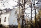 Poland, crucifix and shrine along roadside