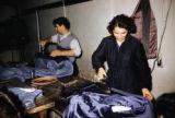 Bulgaria, tailors ironing clothing