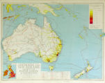 Australia and New Zealand Density of Population & Exploration