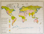 "W. & A.K. Johnston's """"Effective"""" Maps of the World - Land Utilization"