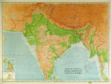 Physical - Political India, Pakistan, Ceylon & Burma