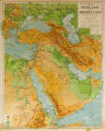 Philips' Regional Wall Map of the Near East and Middle East
