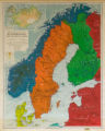 Philips' Regional Wall Map of Scandinavia and the Baltic Lands