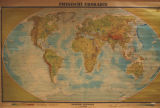 Physische Erdkarte [Physical Map of the World]