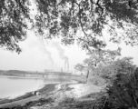 United States, view of International Paper Company from shore in Panama City