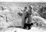 United States, Sandra and John Forman at Badlands National Park, South Dakota