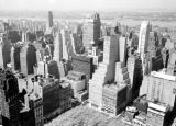 United States, rooftop view of buildings in Midtown Manhattan