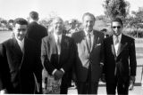 United States, group portrait of Walt Disney and Moroccan dignitaries in Anaheim