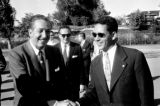 United States, Walt Disney meeting Moroccan dignitary in Anaheim