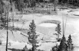 United States, view of mud volcano at Yellowstone National Park