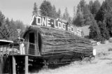 United States, John Forman [Foreman] at 'One-Log House' in Garberville