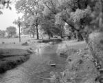 United States, stream through farm in south east Bedford county
