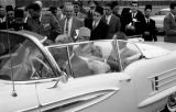 United States, King Muhammad V in car with J. L. Conlon of General Motors in Arlington