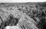 United States, view of rock formations at Badlands National Park, South Dakota