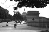 United States, view of street and United States Capitol building in Washington, D.C.