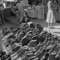Mexico, shoes on display at Toluca de Lerdo marketplace
