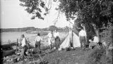 United States, people at camp at Door Bluff County Park