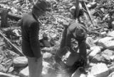 United States, Robert S. Platt and another geographer at ruins in Rowleys Bay