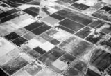 United States, aerial view of croplands in Imperial Valley