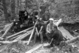 United States, geographers at William Bonifas Lumber camp in Gogebic County