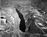 Labrador, aerial view of finger lake