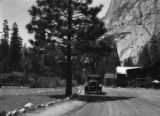 California, car on the road in Yosemite National Park