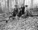 Washington (D.C.), group of young people posing in woods