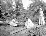 Warwick (Massachusetts), women tending garden