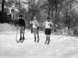 Bronxville (New York), Clara Frances Clapp and friends on cross country skis