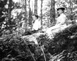 Rensselaer County (New York), ladies in forest on Snow Hole peak