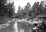Preble County (Ohio), limestone outcrops in stream