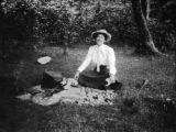 Terra Alta (West Virginia), Helen Clapp resting in wooded area