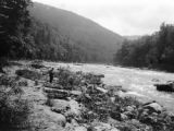 Preston County (West Virginia), rapids of Cheat River over Greenbrier Limestone
