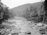 Preston County (West Virginia), view of Big Sandy Creek