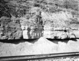 Indiana County (Pennsylvania), limestone formation along railroad tracks
