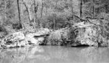 Cumberland County (Tennessee), rock formation along Copeland Creek