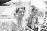 United States, Jane Wyatt and John Howard on set of movie 'Lost Horizon'