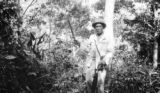 Trinidad and Tobago, forest ranger with machete at Arima Fuel Reserve