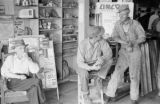 Canada, men in conversation at general store in Saskatchewan