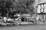 Canada, horse-drawn carriages on streets of Québec